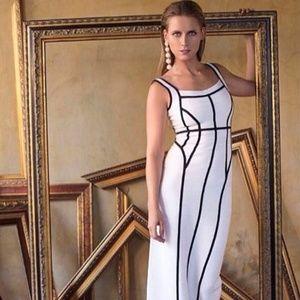 Herve Leger x Max Azria B&W Gown Size S